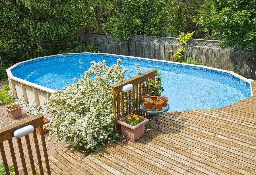 installing outside pool decking